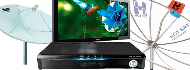 Tv digital via satélite FTA usando sua parabólica banda C normal ou antena banda KU – de Graça, sem pagar assinatura – Saiba Como fazer?