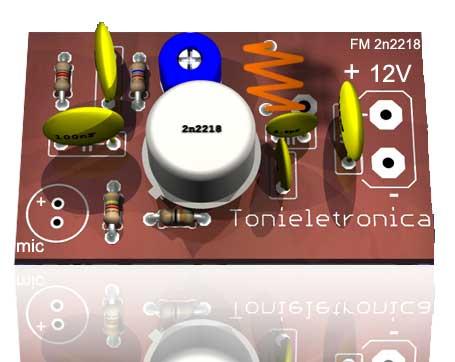 2218 Circuito De Transmissor De FM Potente   Transistor 2n2218 Para