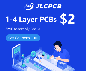 JLPCB 2 layer 5 PCB only $2, 4 layer 5 PCB only $5