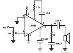lm386, lm386n, lm386n-1, amplificador, integrado