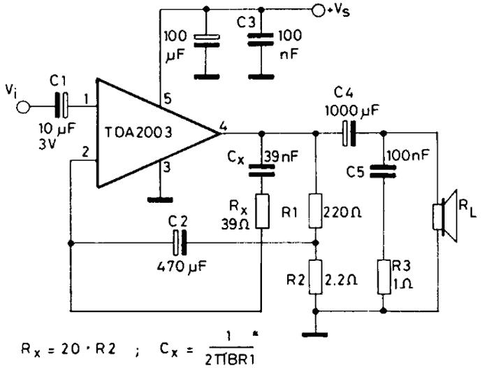 esquema de amplificador tda 2002 cadillac