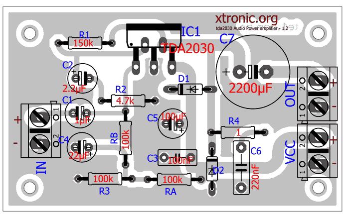 Микросхема TDA2030 представляет собой Hi-Fi класса АВ, имеет встроенную термозащиту, которая срабатывает тогда.