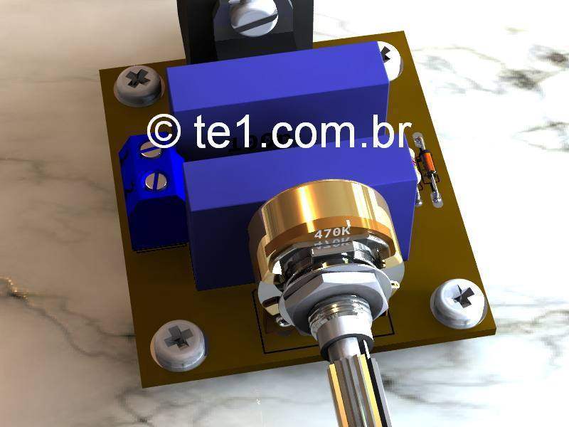 Dimmer   Triac Tic 226 on fontes alimentacao