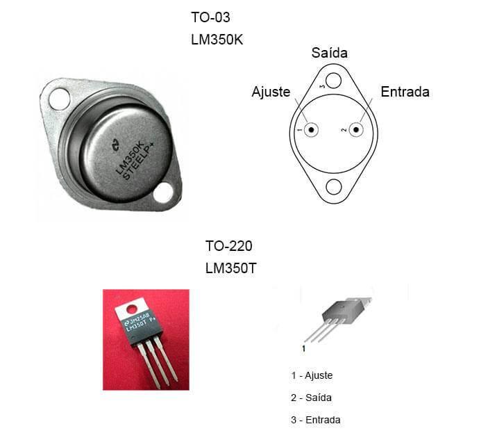 lm350k lm350t ci fonte ajustavel Fonte ajustável de 1.2 até 33V por 3A com CI LM350 Fontes Circuitos