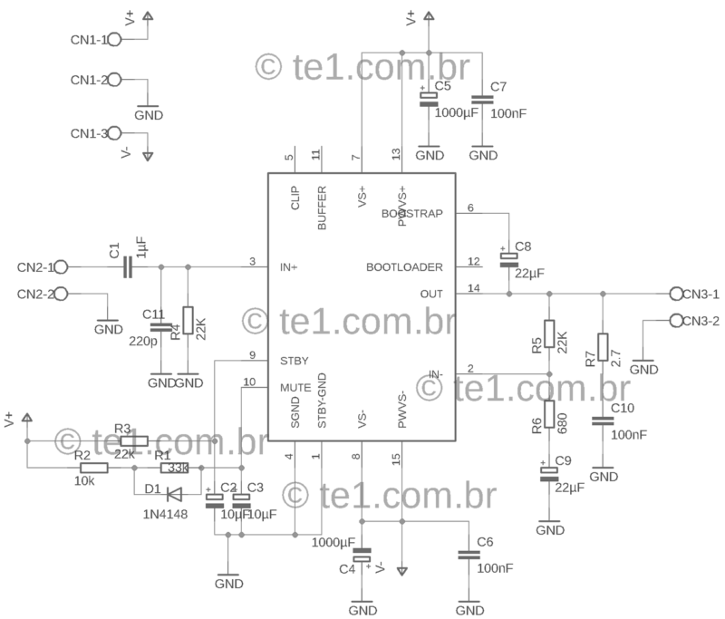Amplificador tda7294 tda7294 amplificador amplificador potência áudio com tda7294 80w - atualizado