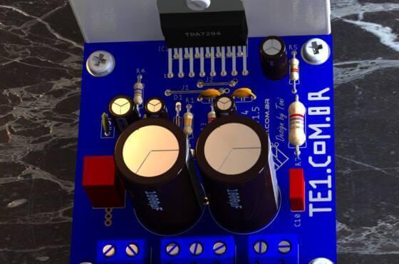 Amplificador Potência Áudio Com Tda7294 80W - Atualizado
