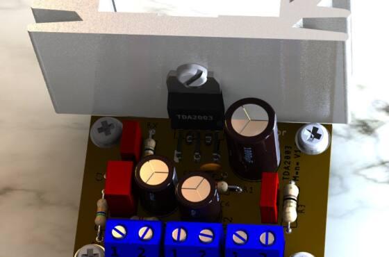 Circuito Amplificador Audio Ci Tda2003 Tda2003 Audio Tda2003 Circuito Amplificador De Potência - 10W
