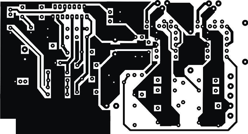 Circuito amplificador de áudio de alta eficiência com o ci tda7294s