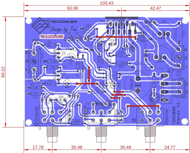 Tda2005 amplificador estereo controle tons comp tda2005 amplificador tda2005 circuito potente amplificador estéreo