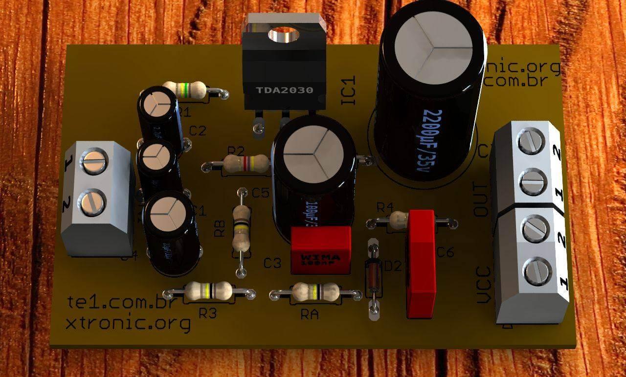 Circuito Amplificador Potncia Com Ci Tda2030 14 Watts Tda1562q Audio Power Amplifier Mono De Udio Integrado Para Aplicaes Automotivas