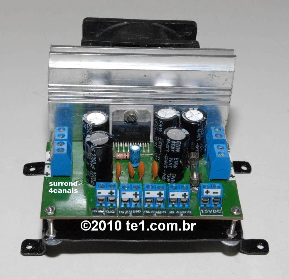 Fotos de circuitos com tda7375 montados pelos leitores