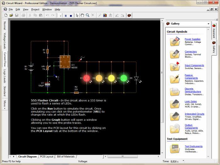 Circuit wizard 700x525 Download Circuit Wizard 1.5 by new wave concepts placa de circuito impresso Multisim Download Desenho de esquemas Desenho circuito impresso