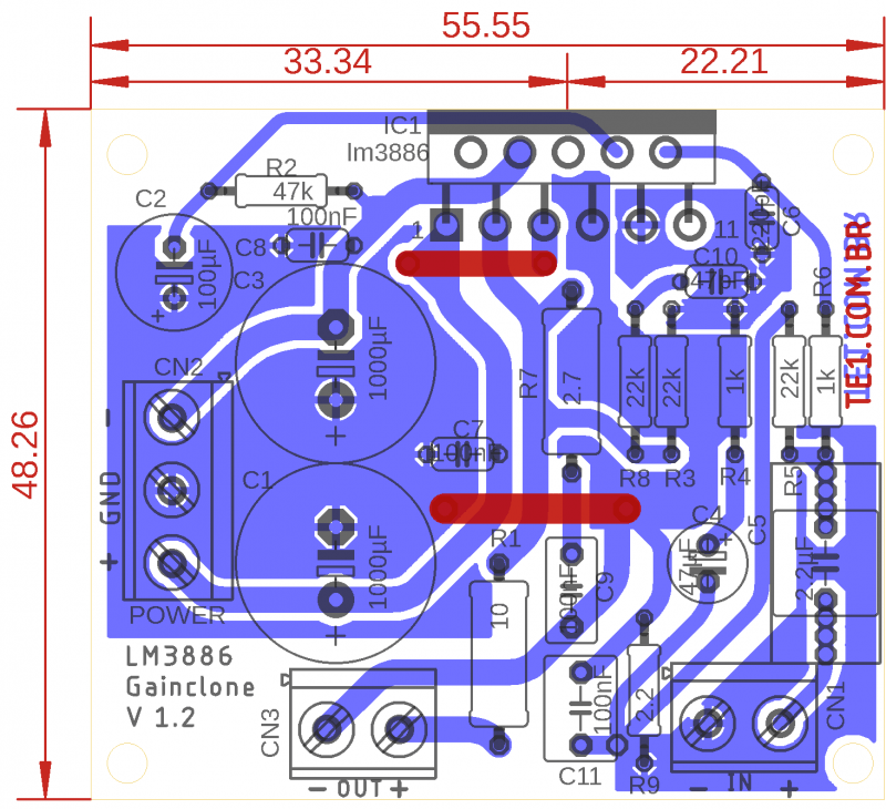 Placa De Circuito Impresos Para Lm3886