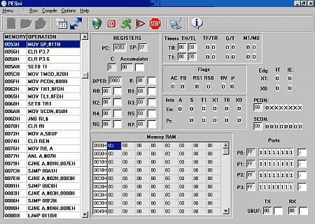 Pequi - simulador do microcontrolador intel 8051