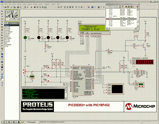 Proteus ISIS Picdem2 Download demo do labcenter proteus 7.6 co simulador e desenho de pcb versão grátis Pic Multisim Microcontroladores Download Desenho circuito impresso