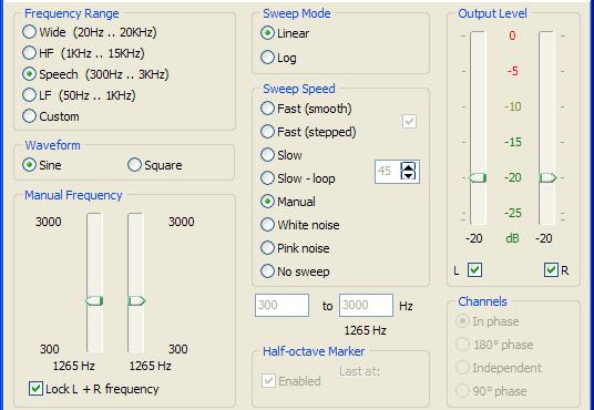 SweepGen transforma seu PC em um oscilador de áudio e gerador de varredura que podem ser utilizadas para fins de teste de áudio ou de ensino