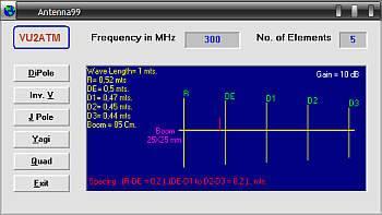 Programa para cálculo de antenas antena 99 vu2