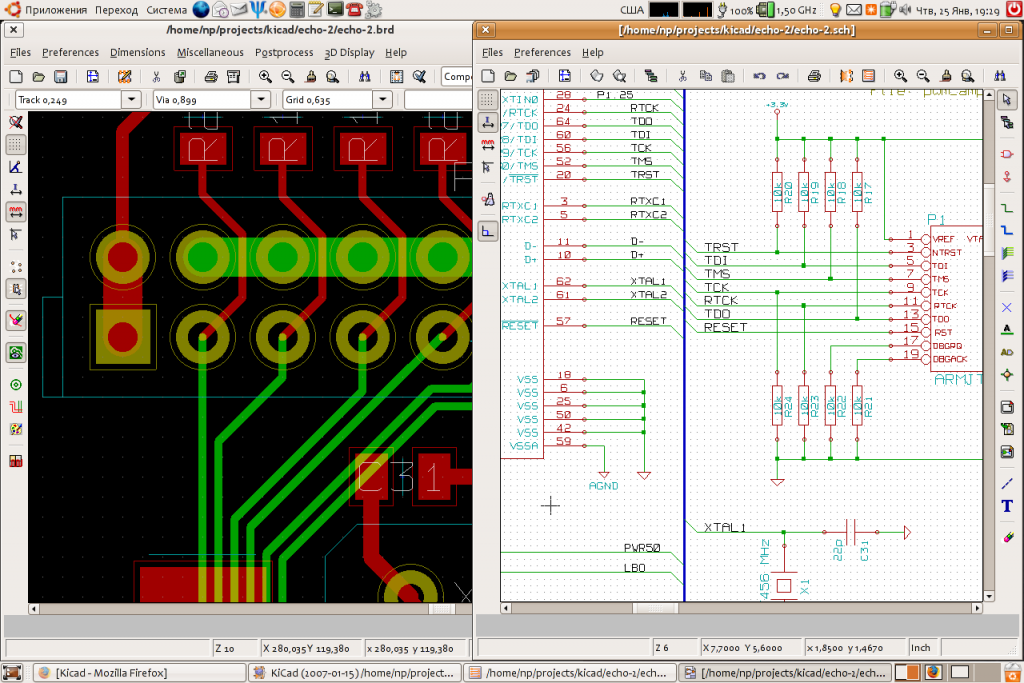 bigAukzOX 1024x683 Download Suite Kicad PCB layout editor Linux Windows e MAC   Gratuito Download Desenho circuito impresso