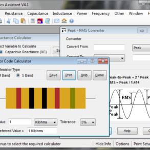 Download Electronics Assistant V4.1 – Calculadora para eletrônica