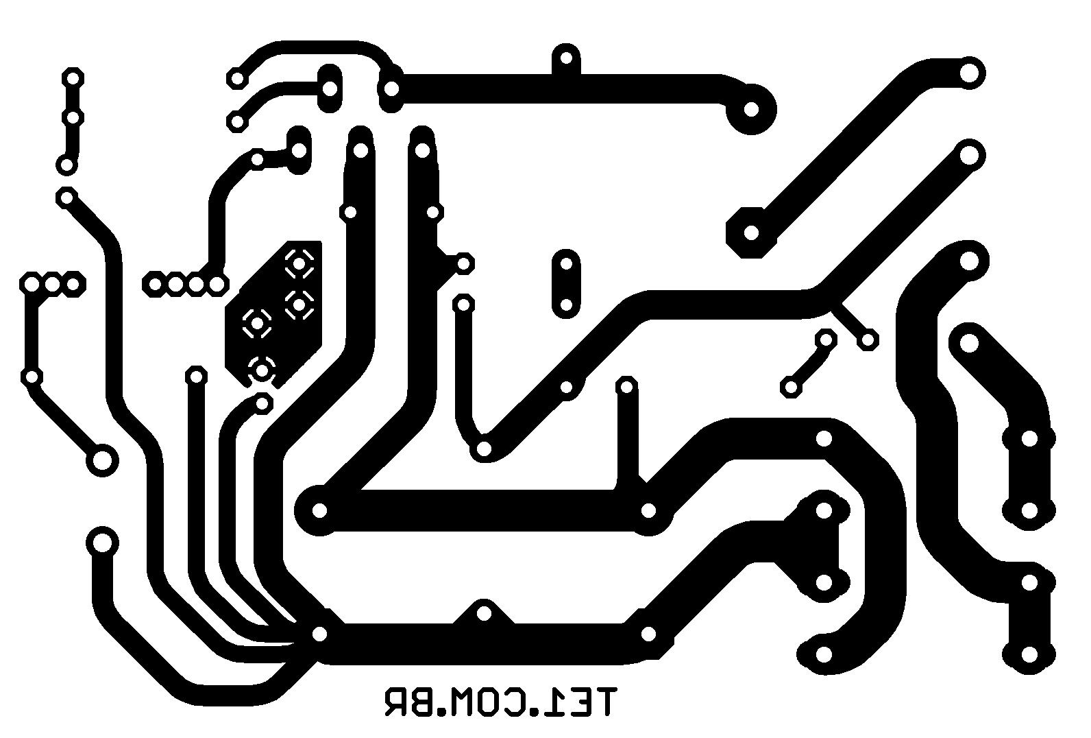 lm1875 pcb amplificador Circuito de amplificador de potência de com CI LM1875 Circuitos Áudio