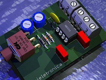 polorotor montagem Circuito  para testar servo motor (polo rotor) de antena parabólica
