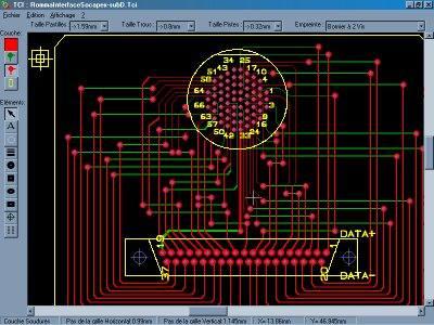 Trace CI programa editor de placas de circuito impresso gratuito e simples