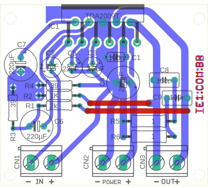 Tda2004 Amplificador 18W Rms Tda2009 Amplificador Tda2009 Circuito Amplificador 18W Rms Em Ponte