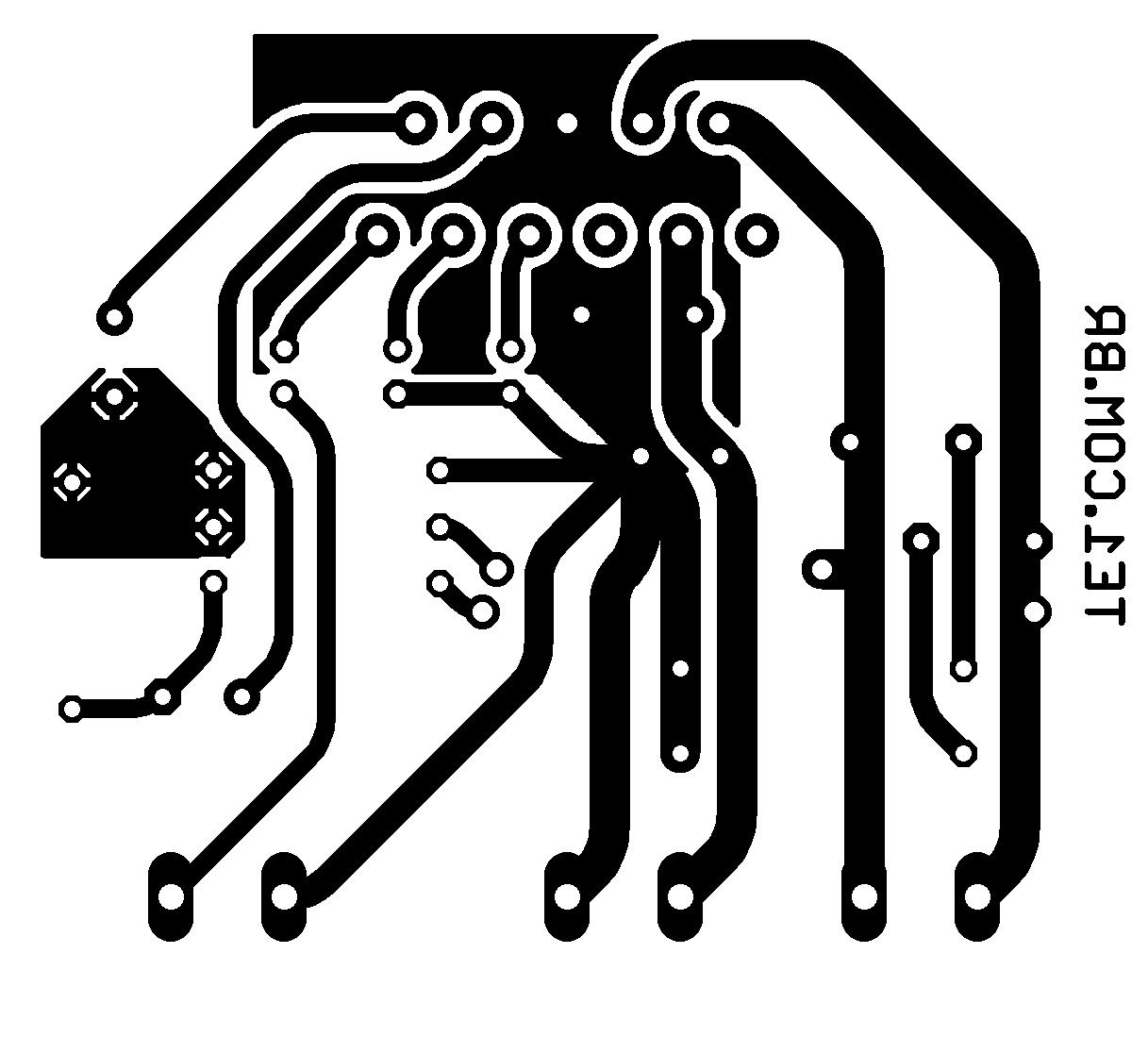 tda2004 amplificador bridge pcb Circuito amplificador de 18 watts RMS em ponte usando tda2009 Circuitos Áudio