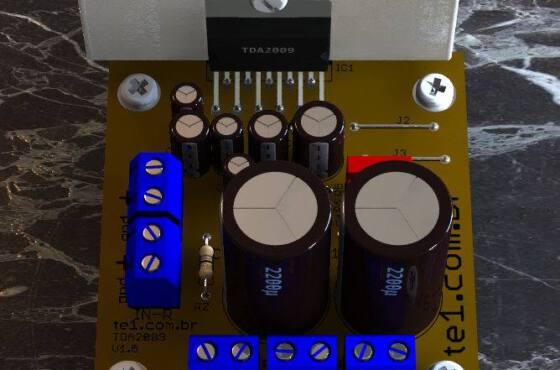 Tda2009-Stereo-Amplificador