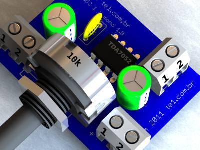 tda7052 amplificador audio philips  Circuito de mini Amplificador BTL com CI TDA7052 1 W tda Pré amplificadores Circuitos Áudio