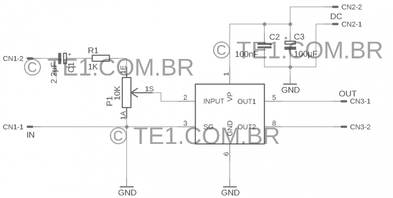 Esquema Do Amplificador Com Tda7052