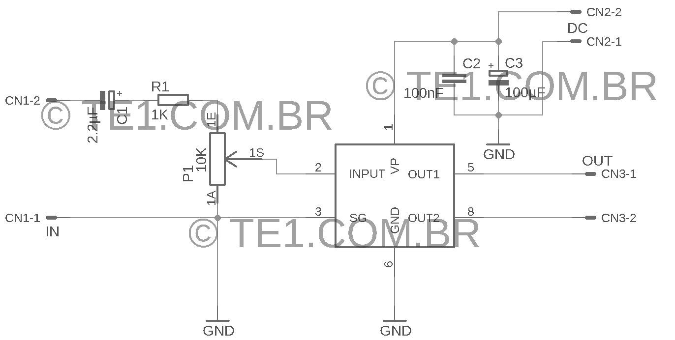 tda7052 esquema montagem eagle lbr Circuito de mini Amplificador BTL com CI TDA7052 1 W tda Pré amplificadores Circuitos Áudio
