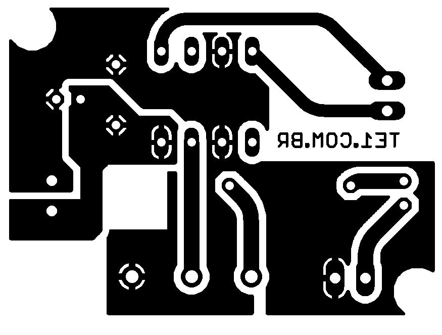 tda7052 pcb 1 Circuito de mini Amplificador BTL com CI TDA7052 1 W tda Pré amplificadores Circuitos Áudio