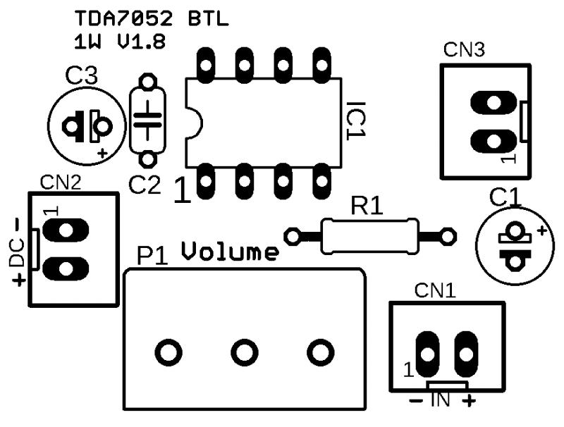 Tda7052 Silk Eagle Lbr Tda7052 Amplificador Tda7052 Circuito De Mini Amplificador Btl 1 W