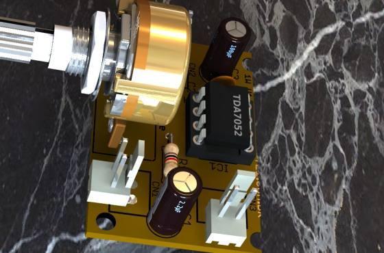 Tda7252 3D 1 Tda7052 Tda Tda7052 Circuito De Mini Amplificador Btl 1 W