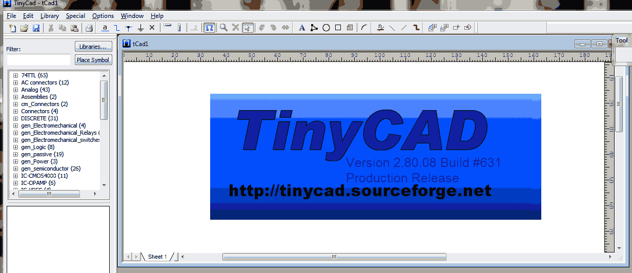 software TinyCAD 2