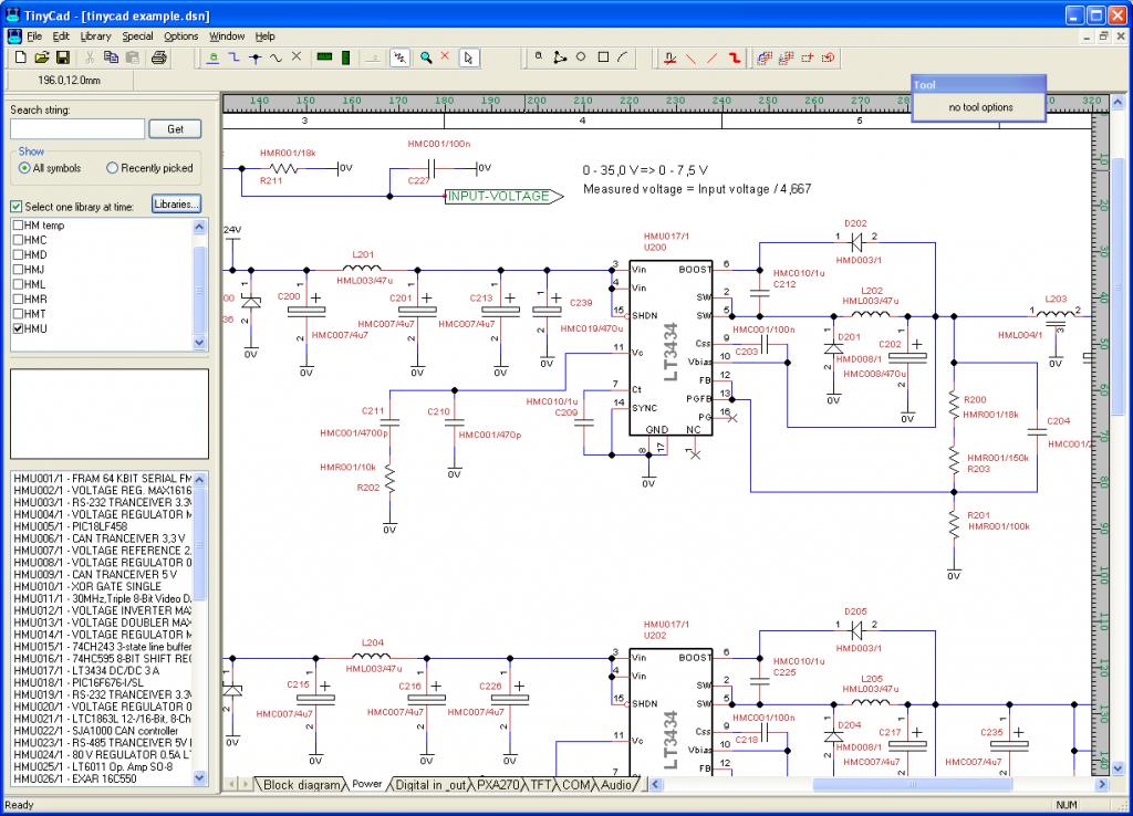tinycad 1024x738 Download Tinycad free programa para desenhar diagramas de circuito Download Desenho de esquemas Desenho circuito impresso