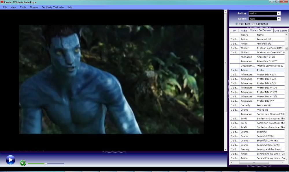 Download Readon TV Movie Radio Player 6.2 internet tv free