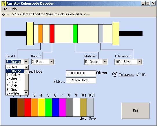 Resistor Colourcode Decoder 1.8