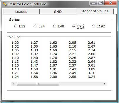 Resistor coder standard values full Download Resistor Color Coder   Resistor SMD e código de cores Teste e medida Essenciais Download Calculadoras