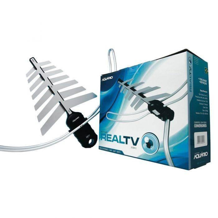 , Antena Aquario DTV-3000 3 em 1 vhf uhf digital tv (hdtv) 6 dbi
