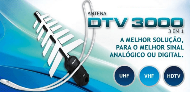 antena aquario Antena Aquario DTV 3000 3 em 1 vhf uhf digital tv (hdtv) 6 dbi tv digital Tutorial Notícias Download Apostilas Antena