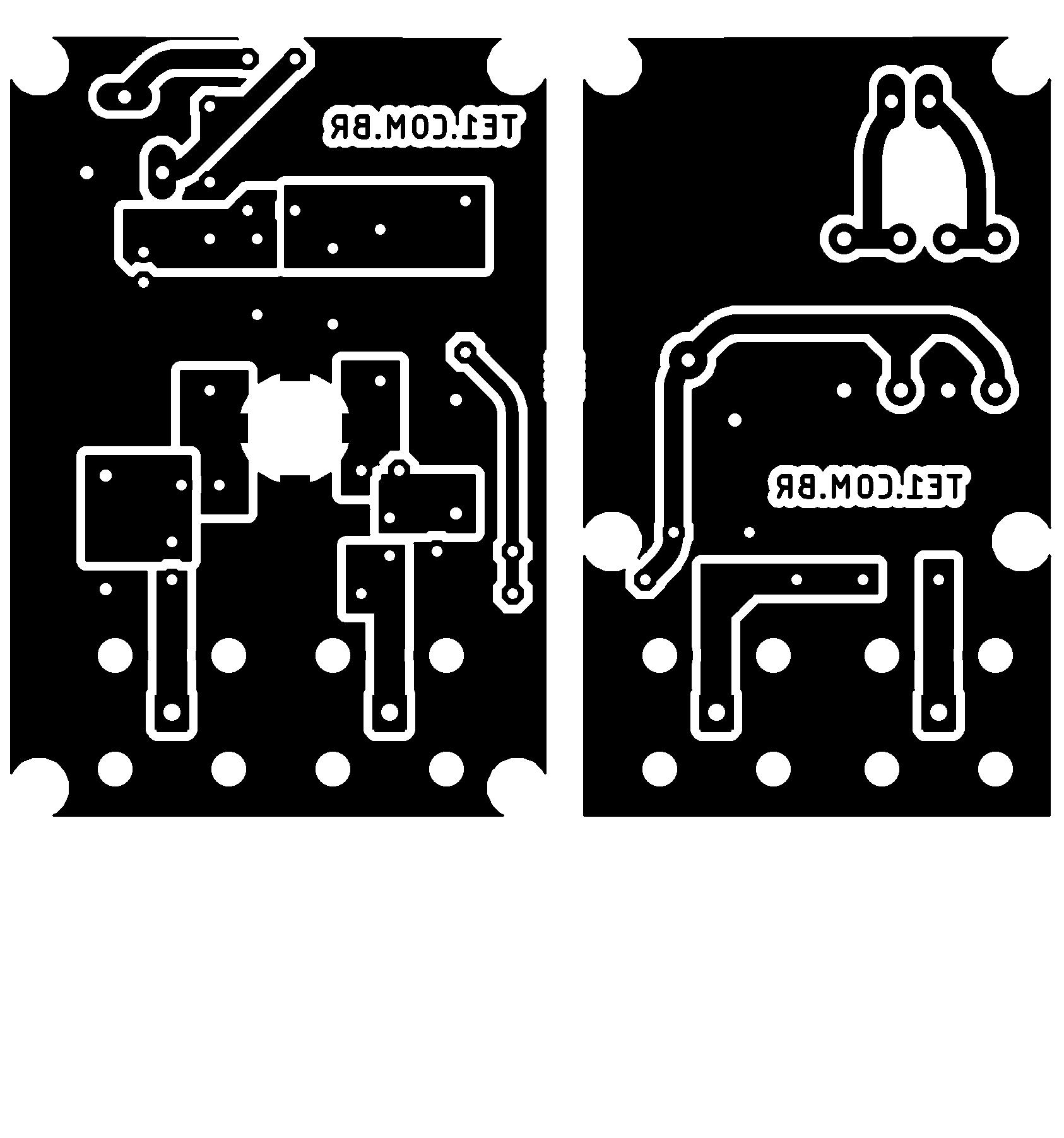 uhf antenna amplifier pcb layout Circuito amplificador de antenas UHF TV digital 10 a 15 dB tv digital Transmissores e RF placa de circuito impresso Circuitos