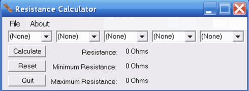 Download Resistance Calculator 1 programa de cálculo de resistores