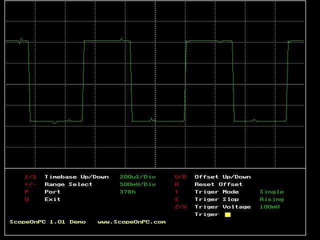 ScopeOnPC 2 osciloscopio dos Download ScopeOnPC 2 torne seu computador num osciloscópio. Programa completo com circuito para usar a porta paralela Download