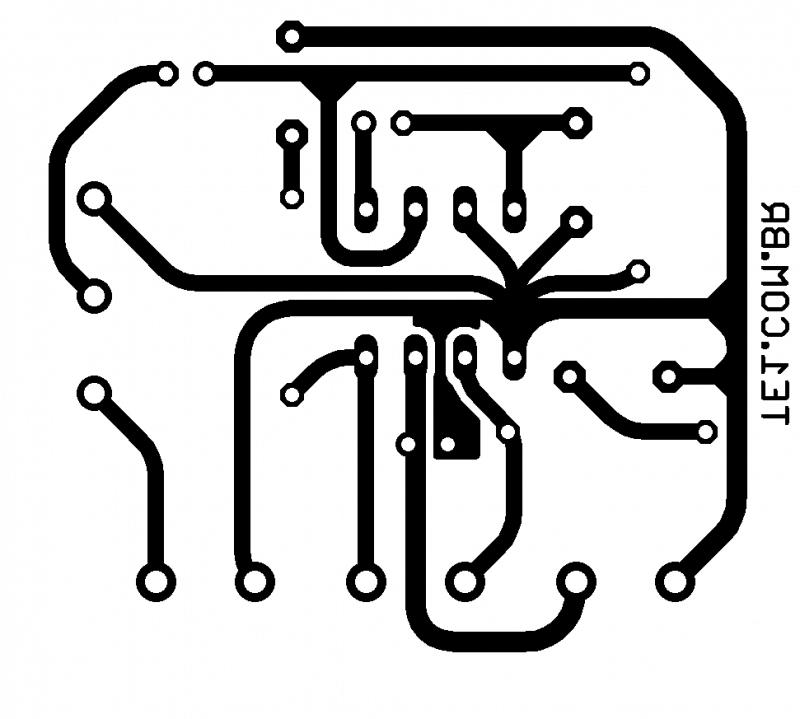Tda2822 ponte amplificador tda2822 amplificador amplificador tda2822 amplificador de áudio em ponte (bridge)