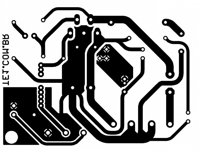 Placa De Circuito Impresso (Pcb) Para Tda2050