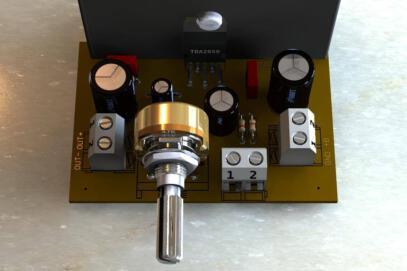 Circuito de amplificador de potência com tda2050 para 32 watts
