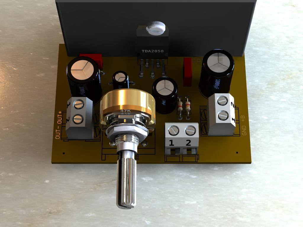 Circuito De Amplificador Potncia Com Tda2050 Para 32 Watts Te1 32w Hi Fi Audio Amplifier With Potencia Rms