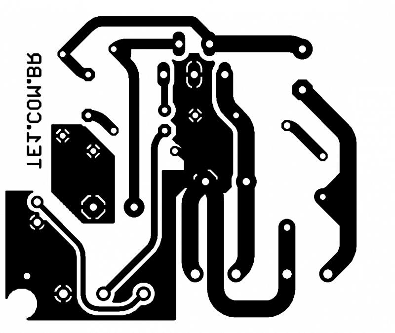 Placa amplificador potencia ci tda2002 tda2002 amplificador tda2002 circuito de amplificador potência 10w